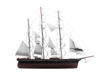 Sailing ship isolated over white Stock Photo