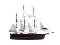 Sailing ship isolated over white royalty free illustration