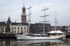 Sailing ship in Kampen Stock Images