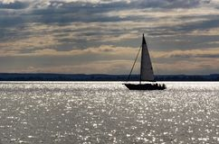Sailing ship on Lake Balaton Royalty Free Stock Photos