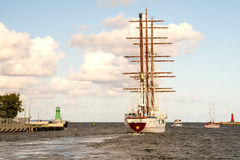 Sailing ship, Le Quy Don Royalty Free Stock Images