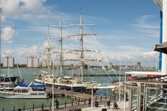 Free Sailing Ship Lord Nelson At Portsmouth, England Stock Photo - 124853790