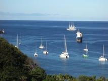 The sailing ship mandalay in the windward islands stock footage