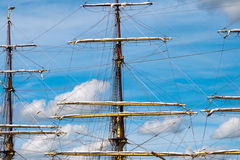 Sailing ship mast Royalty Free Stock Images
