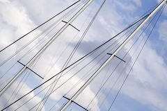 Sailing ship mast Stock Photo