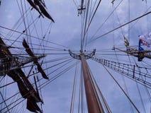 Sailing ship. Mast of a traditional sailing ship Royalty Free Stock Image