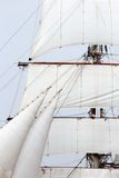 Sailing ship mast Stock Images