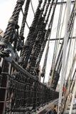 Sailing ship. Masts and ropes Stock Photo