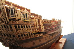 Sailing ship in miniature Royalty Free Stock Photos
