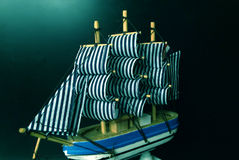 Sailing ship model Stock Photo
