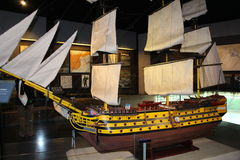 Sailing ship model Royalty Free Stock Images