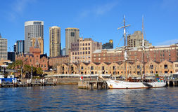 Sailing Ship Moored at Circular Quay, Sydney Royalty Free Stock Photo