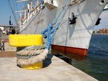 Sailing ship moored. Royalty Free Stock Image