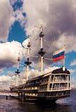 Sailing ship at a mooring Royalty Free Stock Image