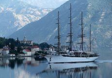 Sailing ship in the morning Royalty Free Stock Image