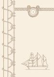 Sailing ship nautical background Stock Images