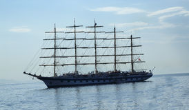 Sailing ship. A sailing ship near the Amalfi Coast Royalty Free Stock Image