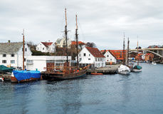 Sailing ship near the berth in Haugesund Stock Photos