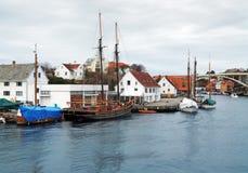 Sailing ship near the berth in Haugesund Stock Photos
