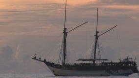 Sailing ship stock video footage