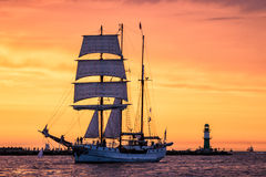Sailing Ship On The Baltic Sea Royalty Free Stock Photo
