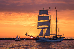 Sailing Ship On The Baltic Sea Stock Photo
