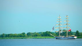 Sailing ship, Poland stock video footage