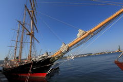 Sailing ship in port Stock Image