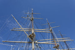Sailing ship in the port Royalty Free Stock Images