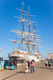 Sailing ship in Port Royalty Free Stock Photography