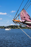 Sailing ship in the port Royalty Free Stock Photos