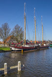 Sailing ship at the quay in Stavoren Royalty Free Stock Photo