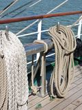 Sailing ship ropes Stock Photo