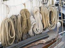 Sailing ship ropes Royalty Free Stock Image