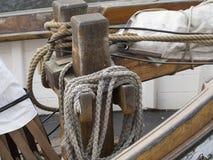 Sailing ship ropes Royalty Free Stock Photo