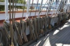 Sailing Ship Ropes Stock Image