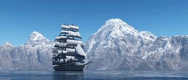 The sailing ship Stock Images