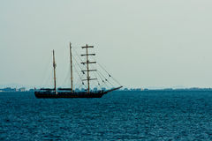 Sailing ship in sea Stock Photography