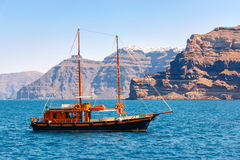 Sailing ship on the sea Royalty Free Stock Photography