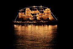 Sailing ship in the sea Royalty Free Stock Photography