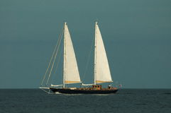 Sailing ship. On the sea in the summertime Stock Photo