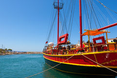 Sailing ship.  Sissi, Crete, Greece Stock Image