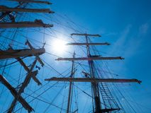 Sailing Ship, Sky, Tall Ship, Mast stock photography