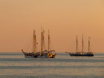 Sailing Ship Sunset Royalty Free Stock Photos