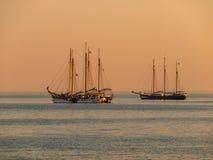 Sailing Ship Sunset Stock Image