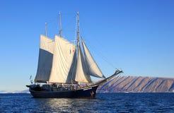 Sailing Ship, Tall Ship, Caravel, Barquentine stock image
