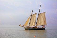 Sailing Ship, Tall Ship, Caravel, Schooner stock photo