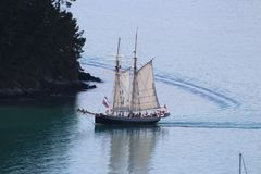 Sailing Ship, Tall Ship, Caravel, Ship royalty free stock photo