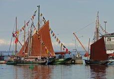 Sailing Ship, Tall Ship, Caravel, Water Transportation stock photo