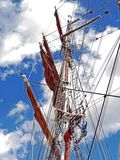 Sailing Ship, Tall Ship, East Indiaman, Mast stock images